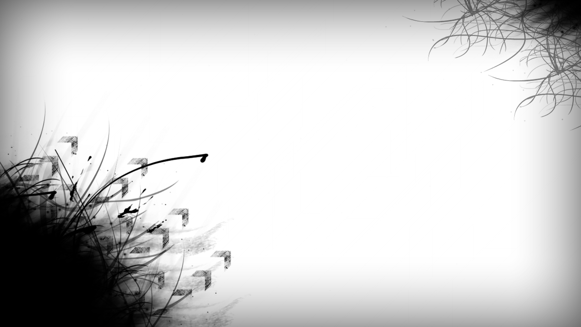 Pics Photos   Black White Abstract Design Wallpaper 1920x1080