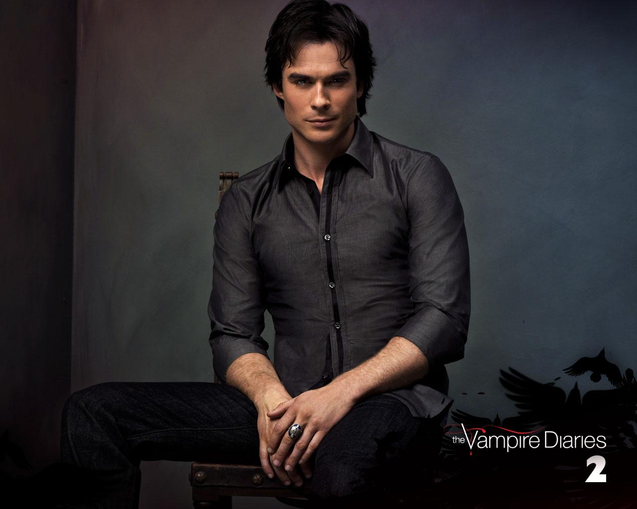 The Vampire Diaries Damon Wallpaper The vampire diaries damon 1280x1024