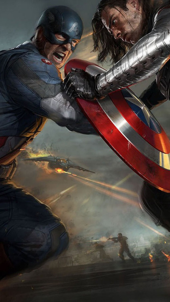 Captain America The Winter Soldier 2014 Film Wallpaper   iPhone 576x1024