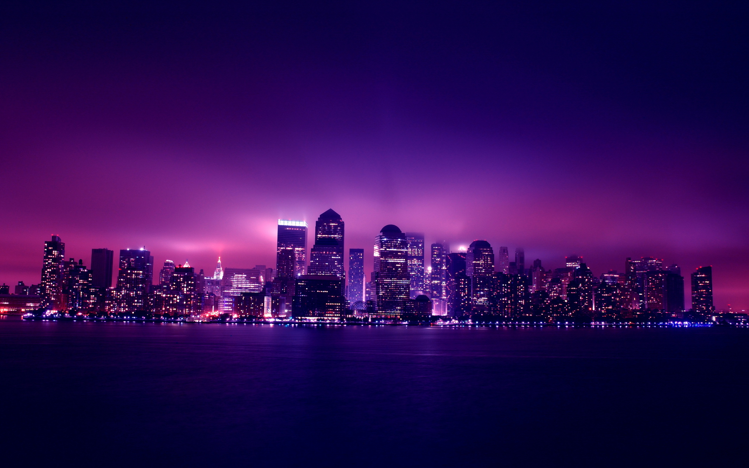 New york at night background desktop wallpapers and 2560x1600