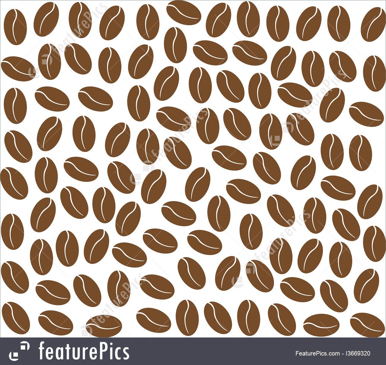 Beverage Ingredients Coffee Beans Background   Stock Illustration 1300x1229