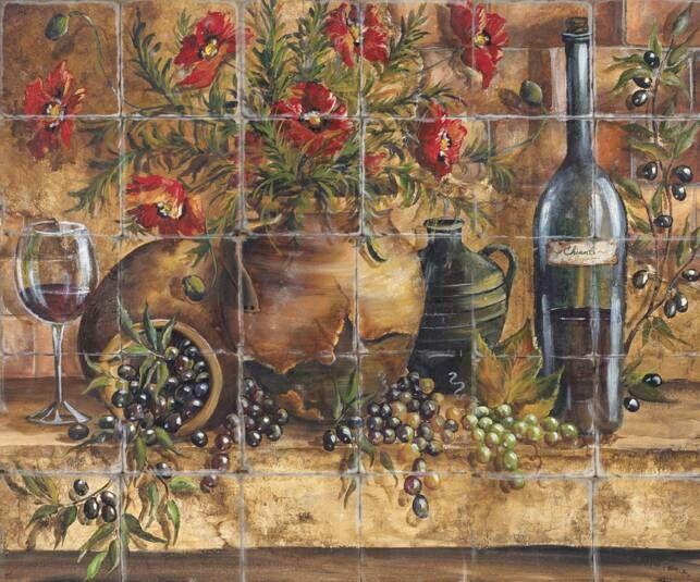 Tuscan tile design Love More 643x535