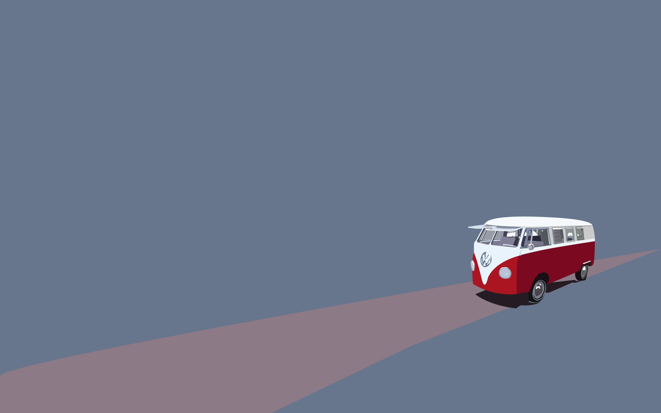 minimalist bus vector road art hd wallpaper   Magic4Wallscom 2560x1600