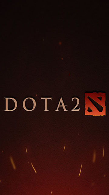 dota 2 logo wallpaper for phone phone wallpapers 360x640