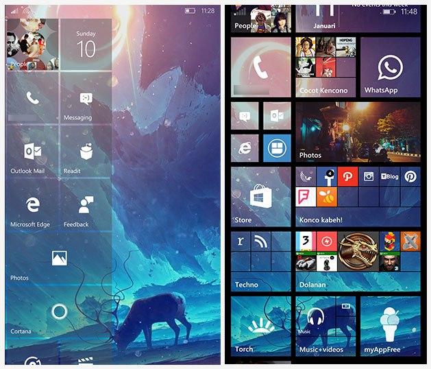 Wallpaper di start screen windows 10 mobile dan windows phone 81 629x538