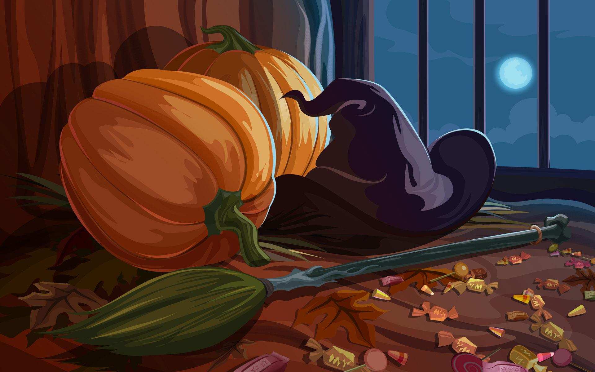wallpapers desktop screen saver screensavers witch halloween 1920x1200