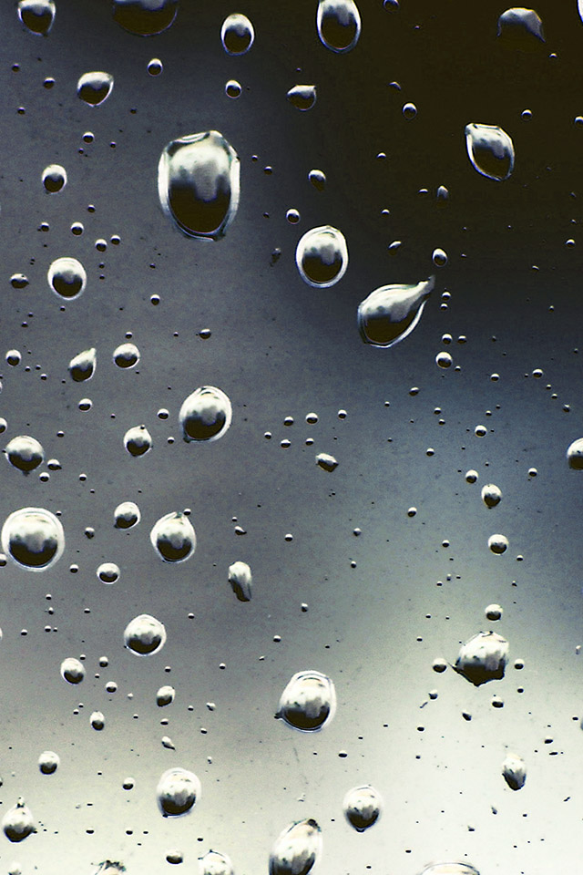 FREEIOS7 raindrops sadd   parallax HD iPhone iPad wallpaper 640x960