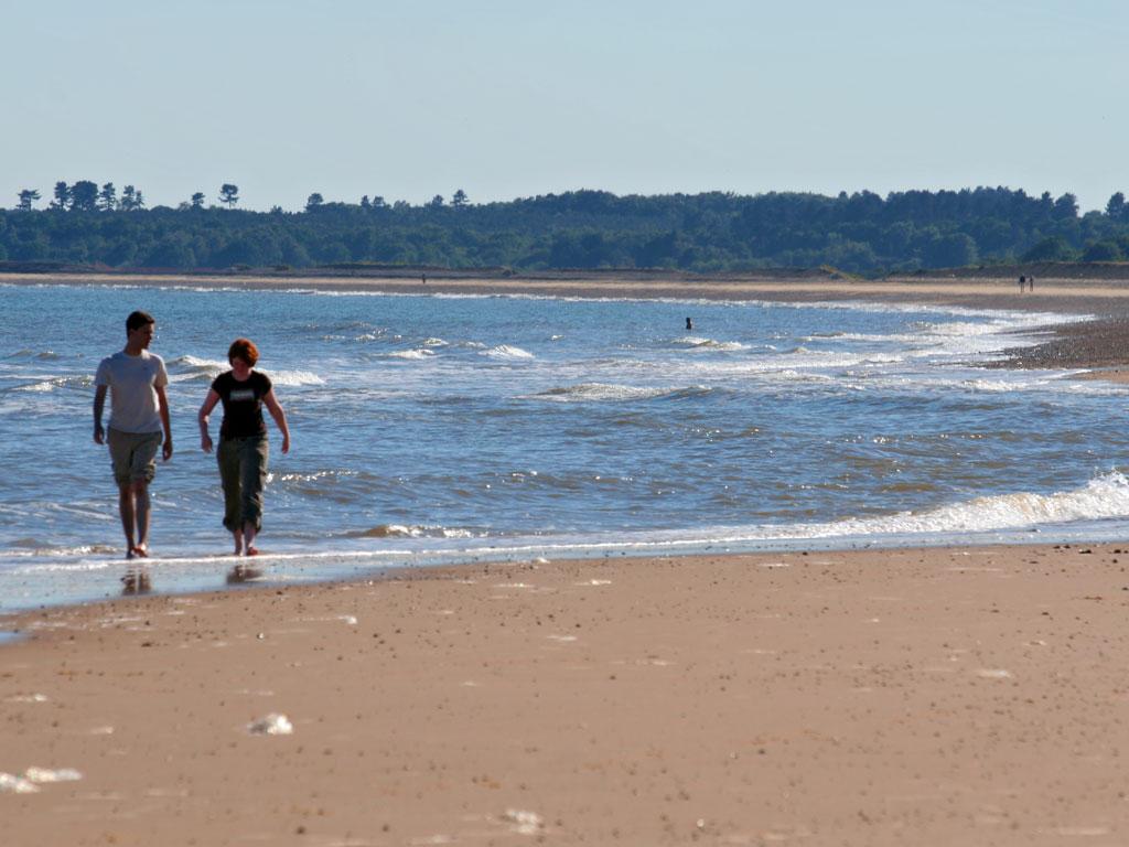 beach background of people walking on a sandy beach 1024x768