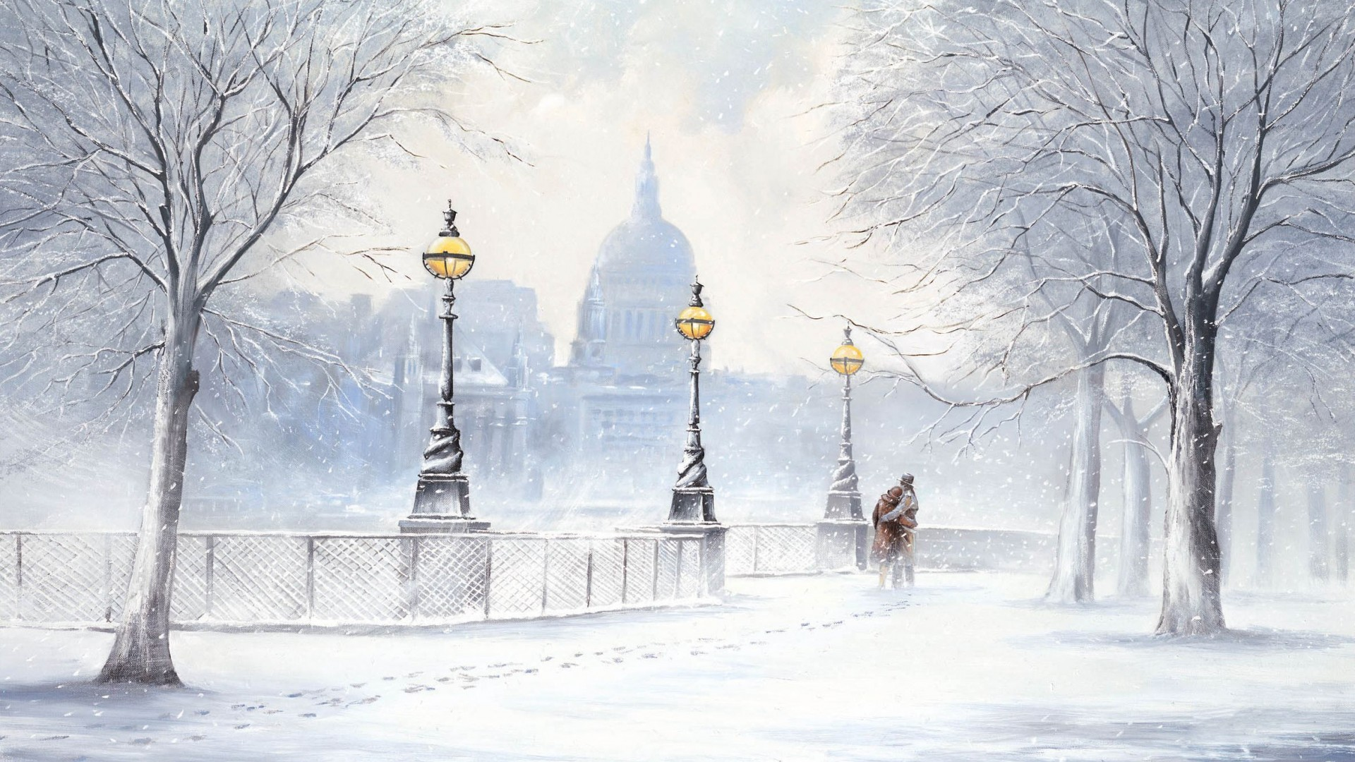 Winter in the City Wallpaper - WallpaperSafari