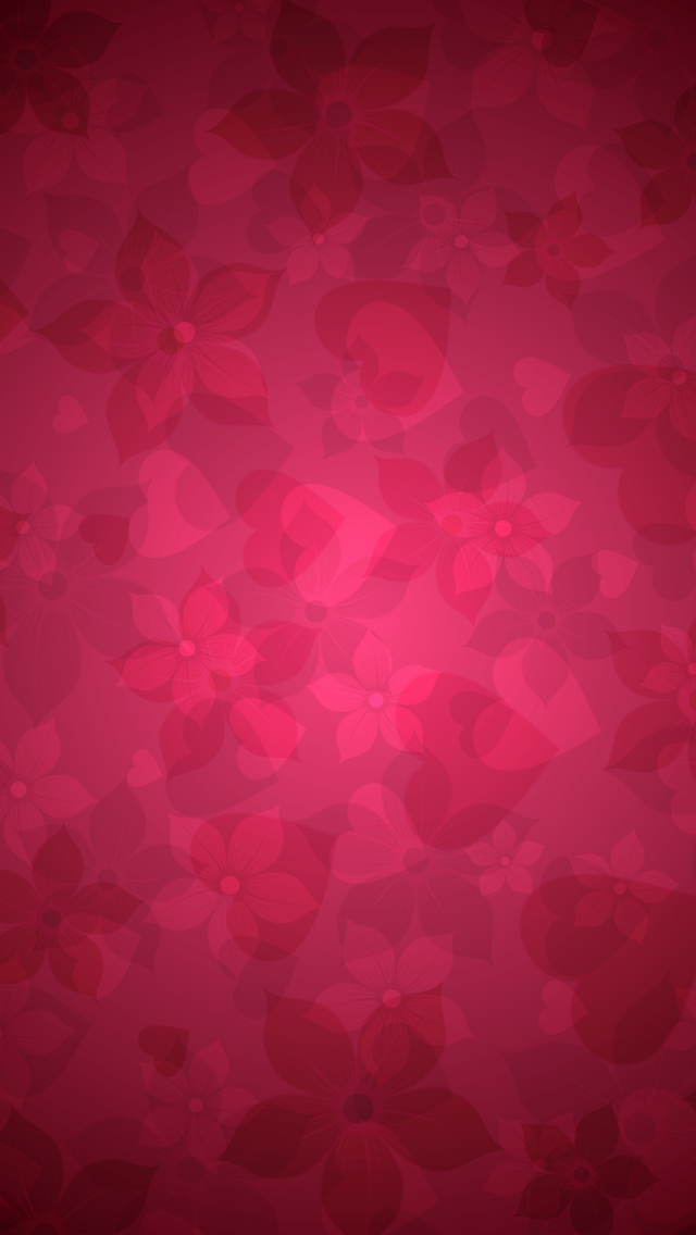Red floral pattern iPhone 5s Wallpaper Download iPhone Wallpapers 640x1136