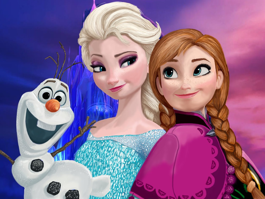 Elsa Anna and Olaf   Frozen Photo 37273047 1024x768