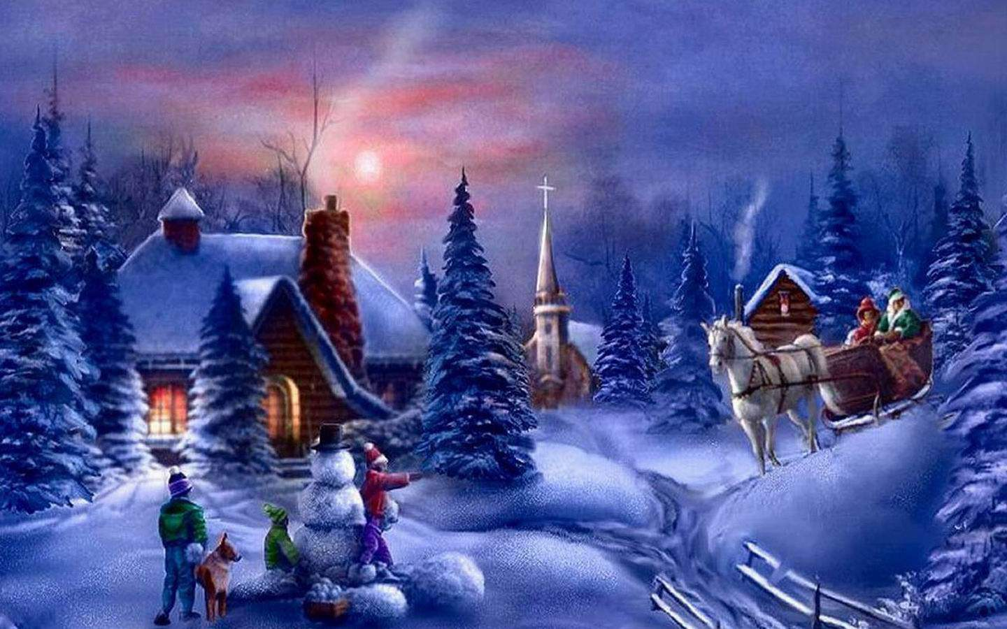 Christmas PC Wallpapers   Top Christmas PC Backgrounds 1440x900