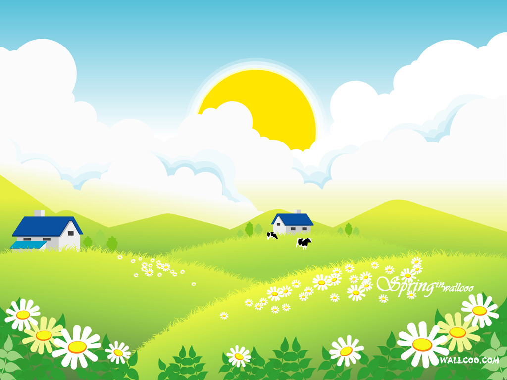 48+ Cartoon Spring Wallpaper on WallpaperSafari
