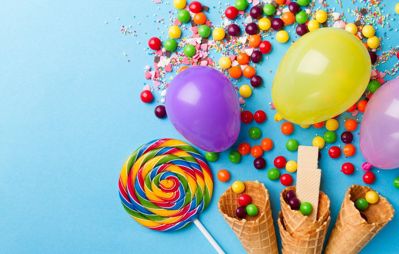 Wallpaper ball sweets lollipops horn caramel images for 1332x850