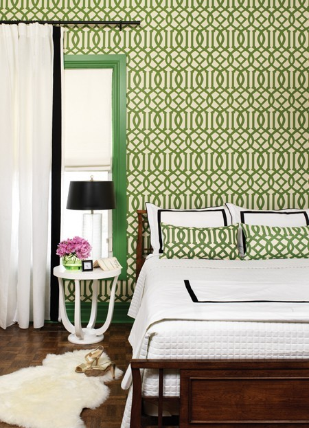 The Glam Pad 50 Gorgeous Green and White Bedrooms 450x623