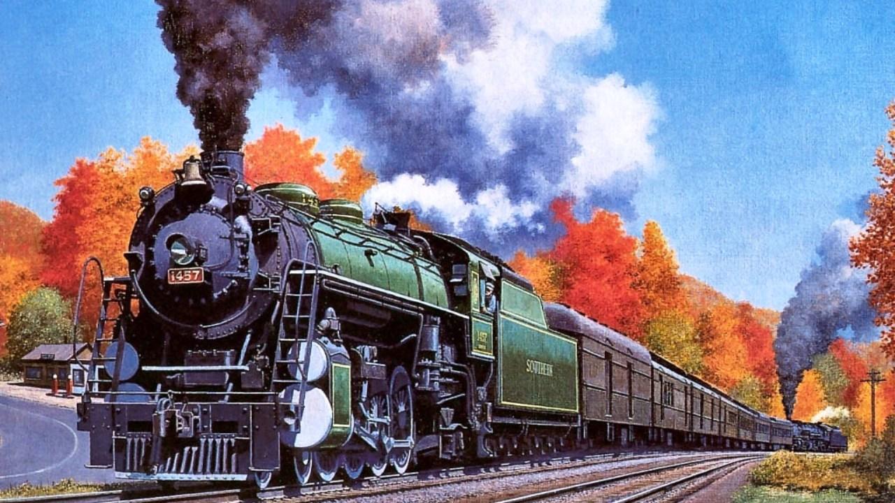 Картинки, железнодорожные открытку
