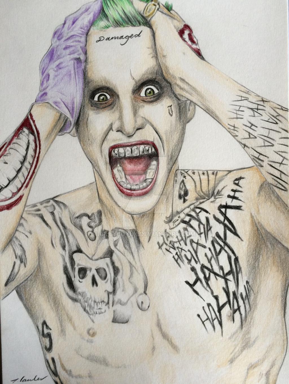 Suicide Squad Joker Jared Leto drawing by billyboyuk 1024x1365