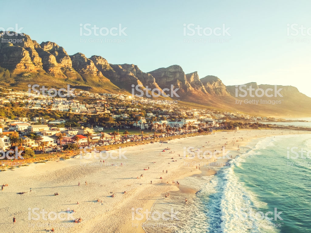 Stunning Wide Angle Aerial Drone Evening View Of Camps Bay An 1024x768