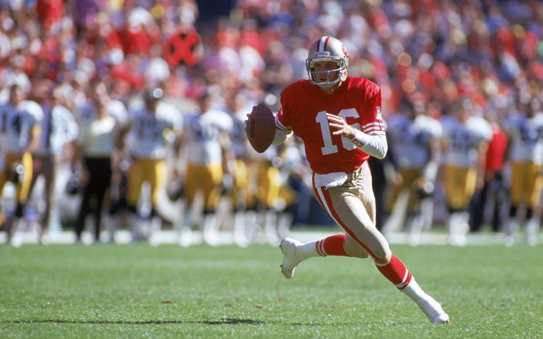 Quarterback Joe Montana in 1990 on the San Francisco 49ers Getty 1240x775