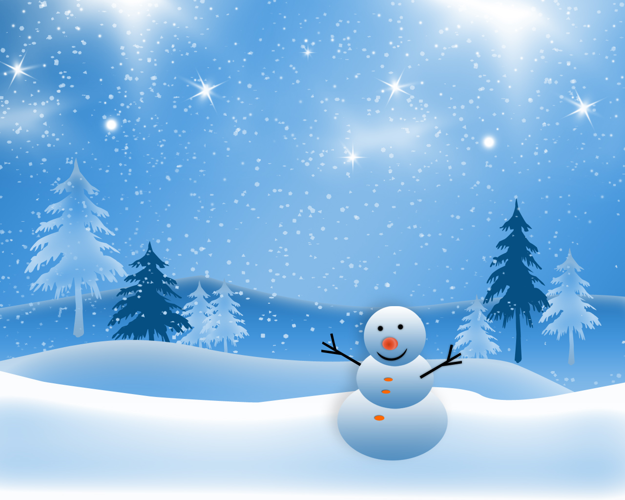 Cute Winter Backgrounds 1280x1024