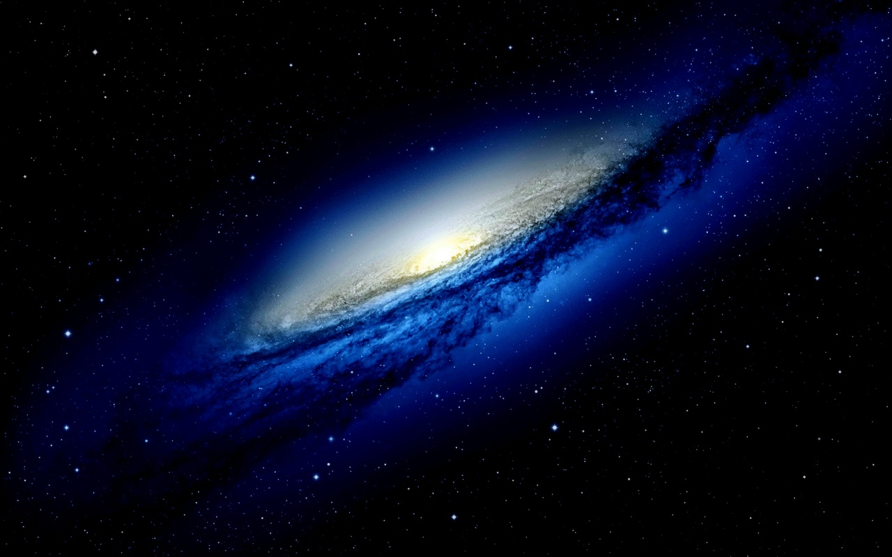 Blue Galaxy In Dark Space Wallpapers   1280x800   209193 1280x800