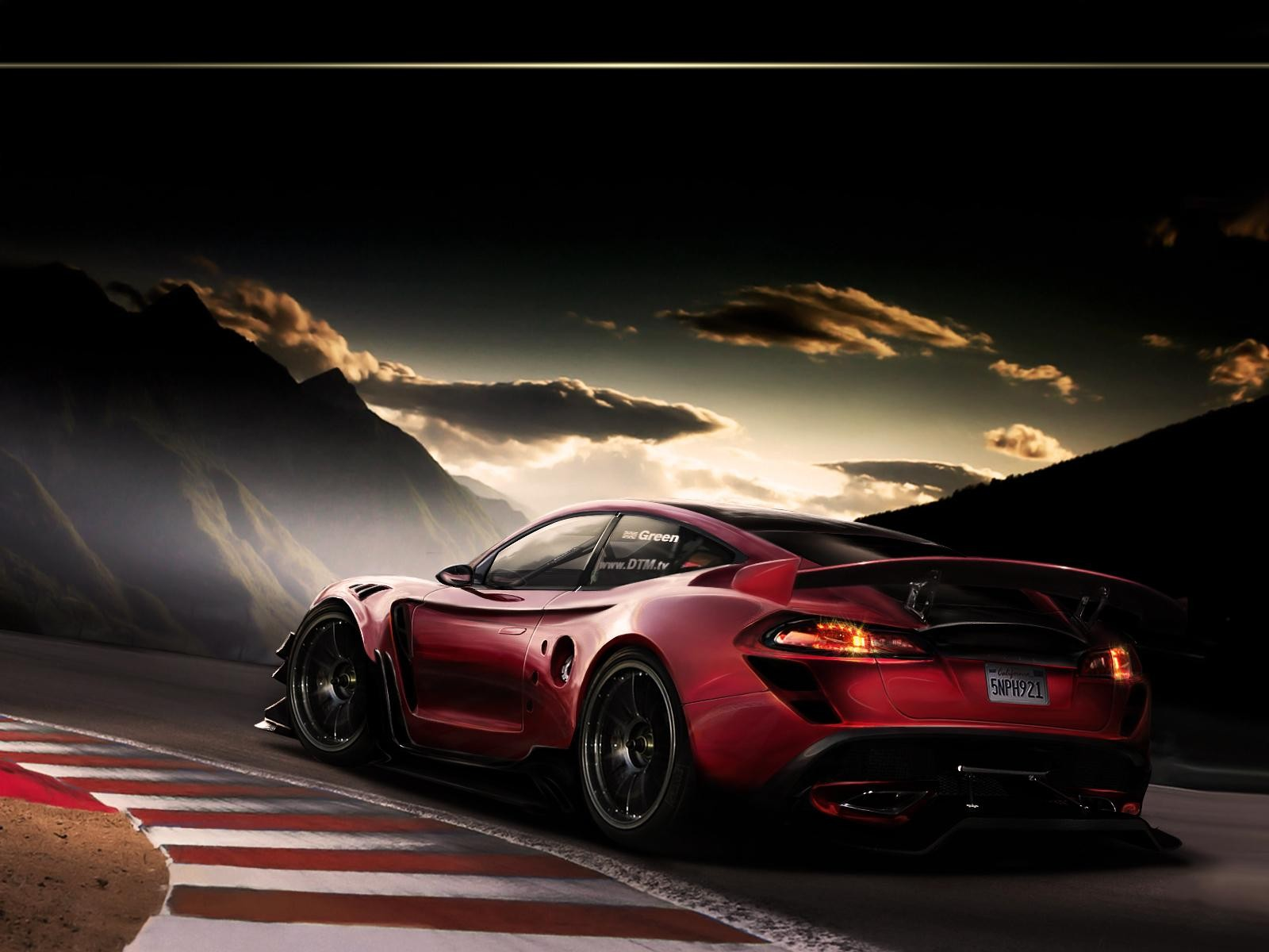 Cool Red Sports Racing Car HD Wallpaper   StylishHDWallpapers 1600x1200