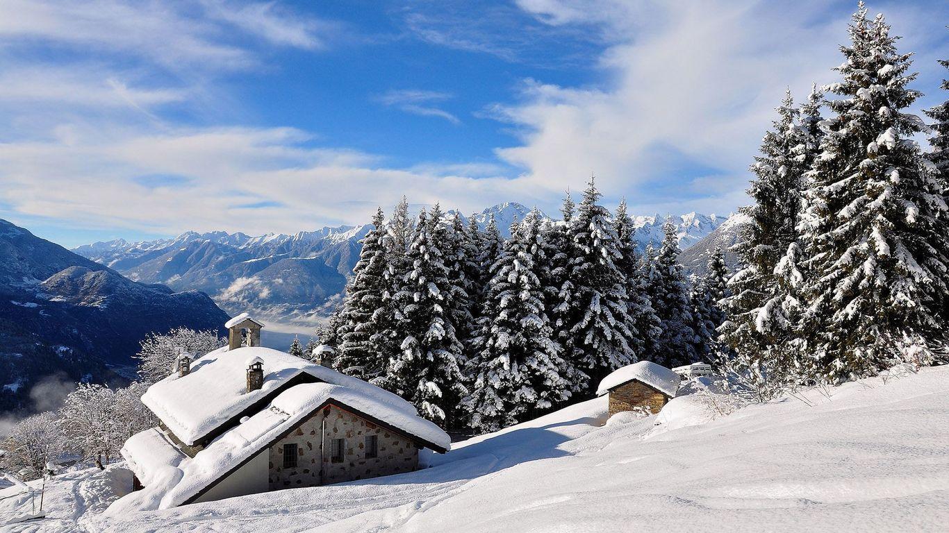 Cabins In The Snow Wallpaper Wallpapersafari