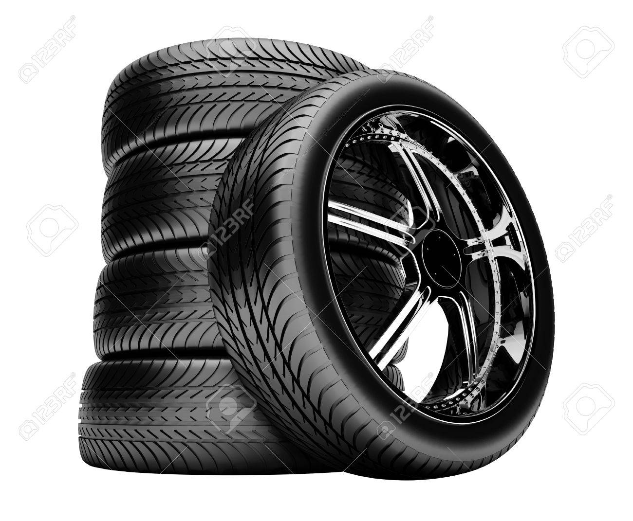 3d Tires Isolated On White Background With No Shadow Stock Photo 1300x1071