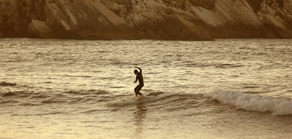 Longboard Surf Wallpaper Baleal peniches surfing 600x286