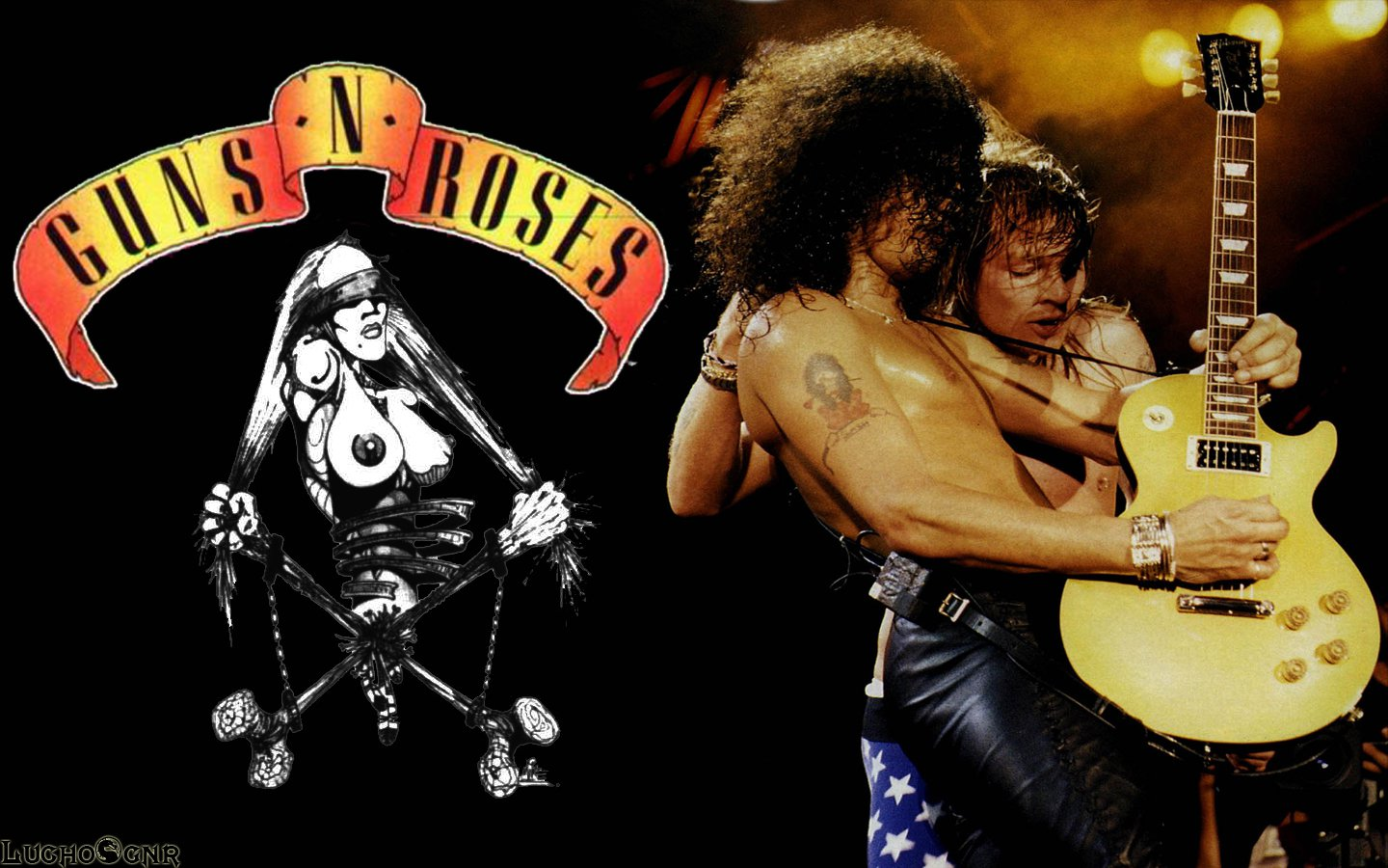 Guns n roses hd wallpaper wallpapersafari - Wallpaper guns and roses ...