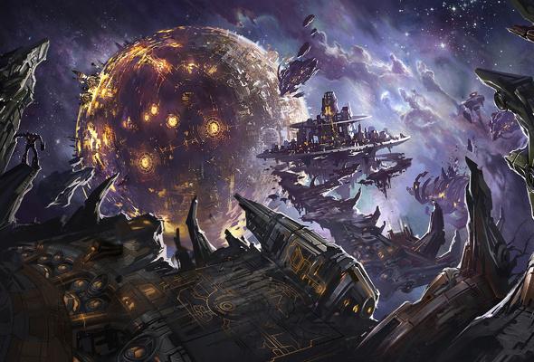 Wallpaper space planet Transformers war for cybertron robot 590x400