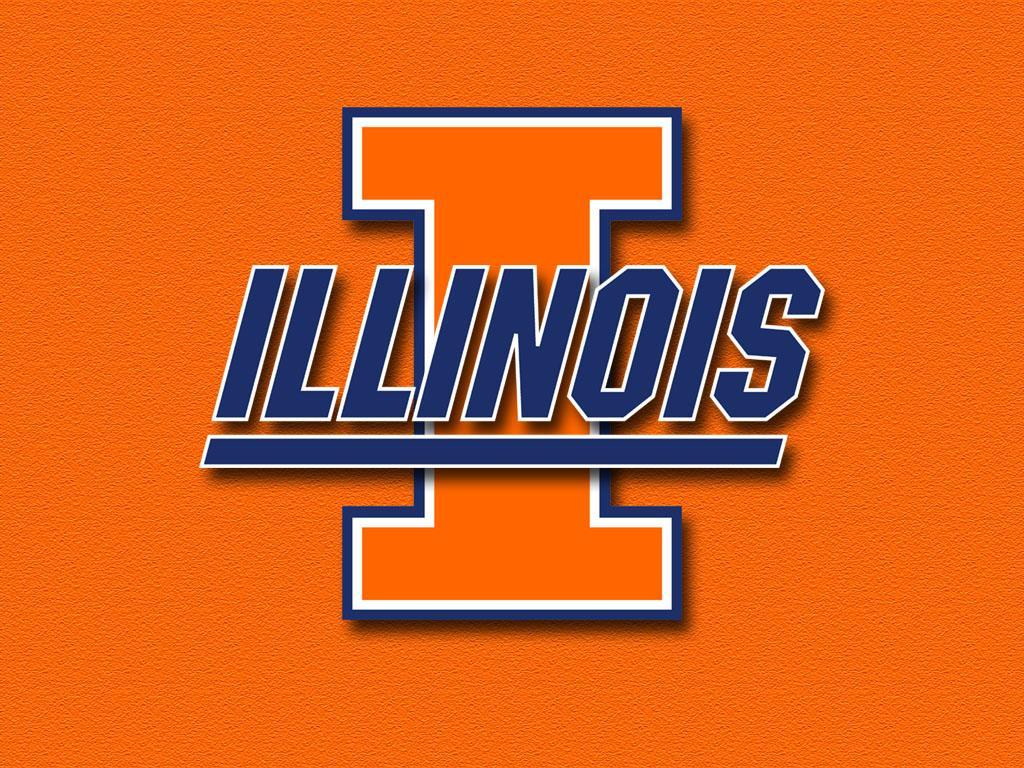Illinois Block I orange wallpaper 1024x768 size 1024x768