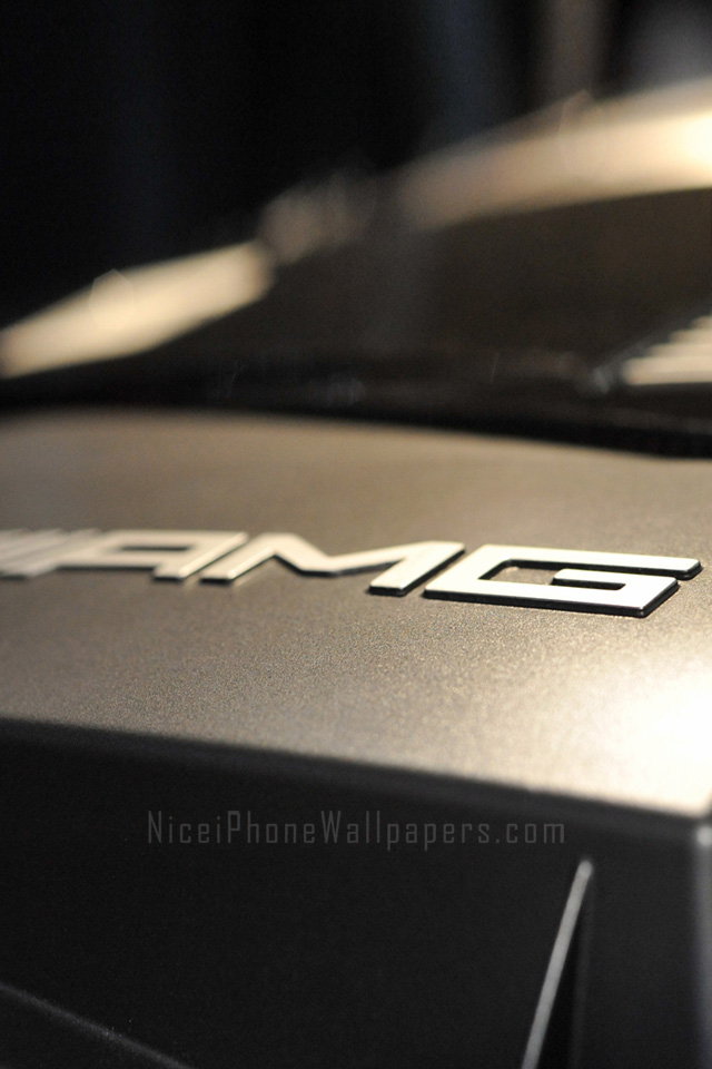 AMG logo wallpaper for iPhone 44s 640x960
