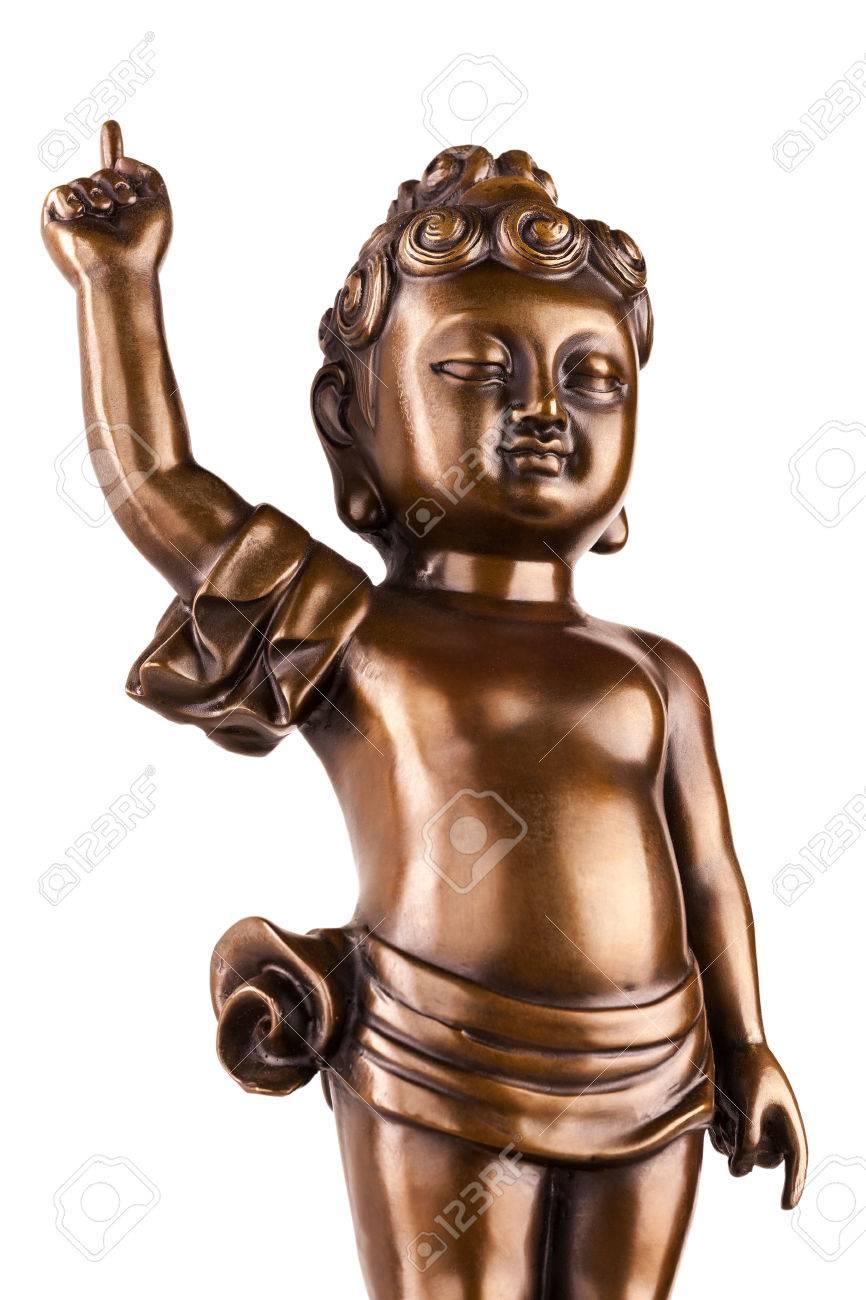 Young Prince Siddhartha Gautama The Figure Made Of Metal Isolated 866x1300