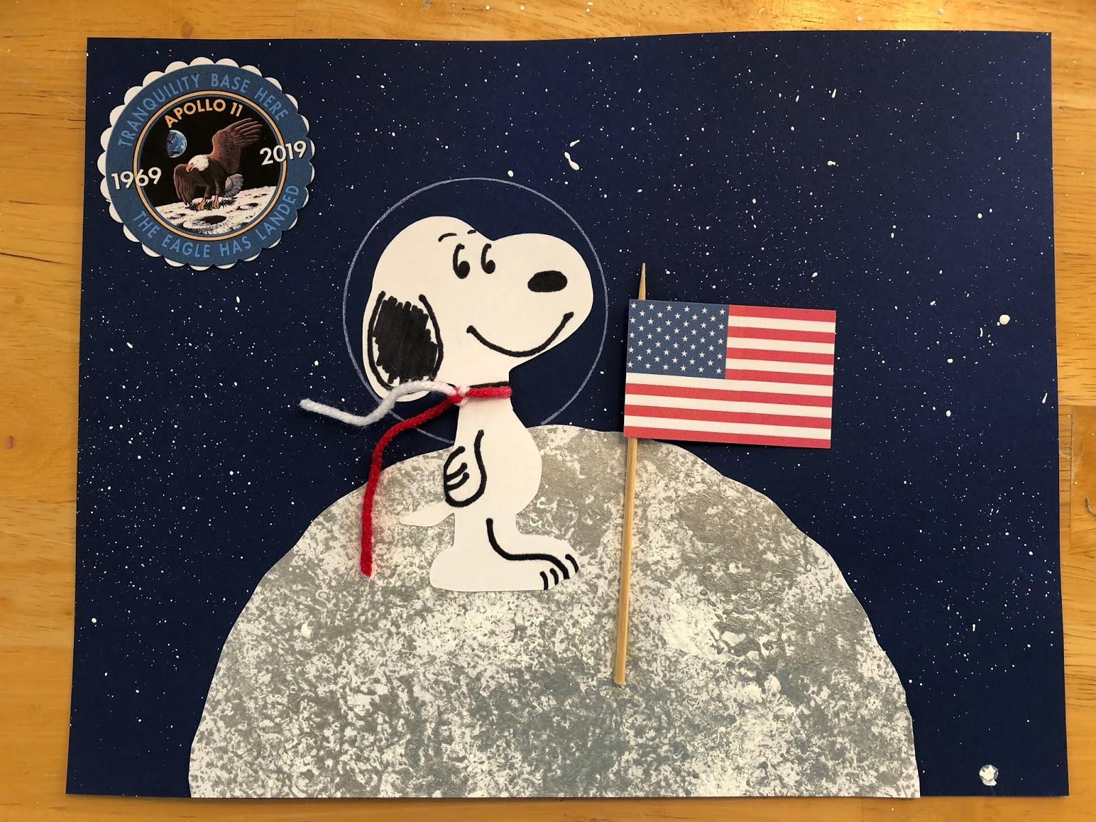 Kathys Art Project Ideas 50th Anniversary of Apollo 11 Snoopy in 1600x1200