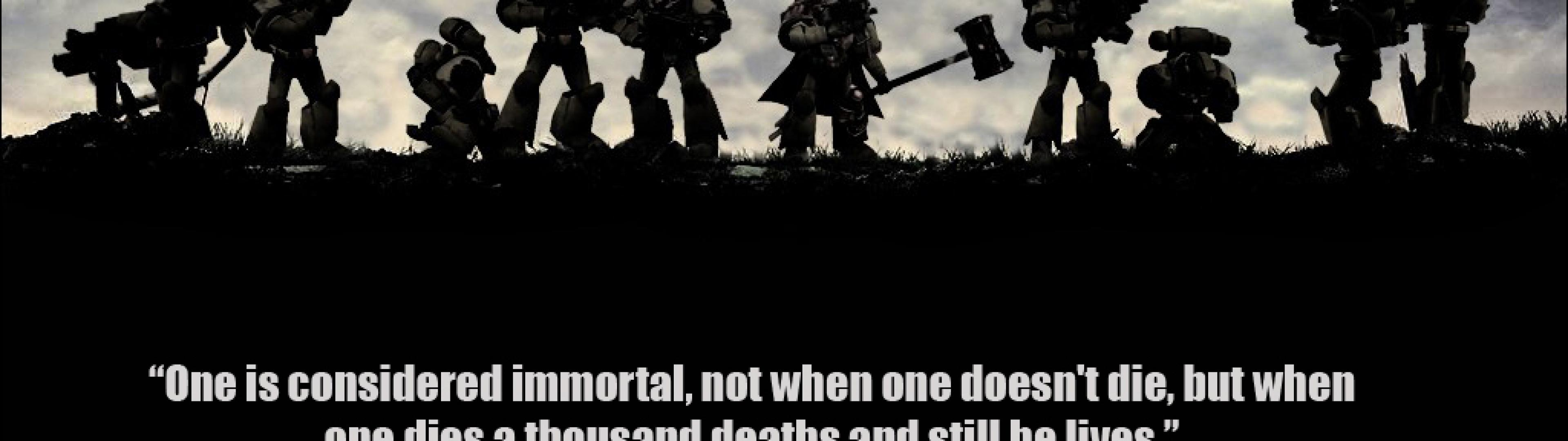 band of brothers imperial fists warhammer death korps HD Wallpaper of 3840x1080