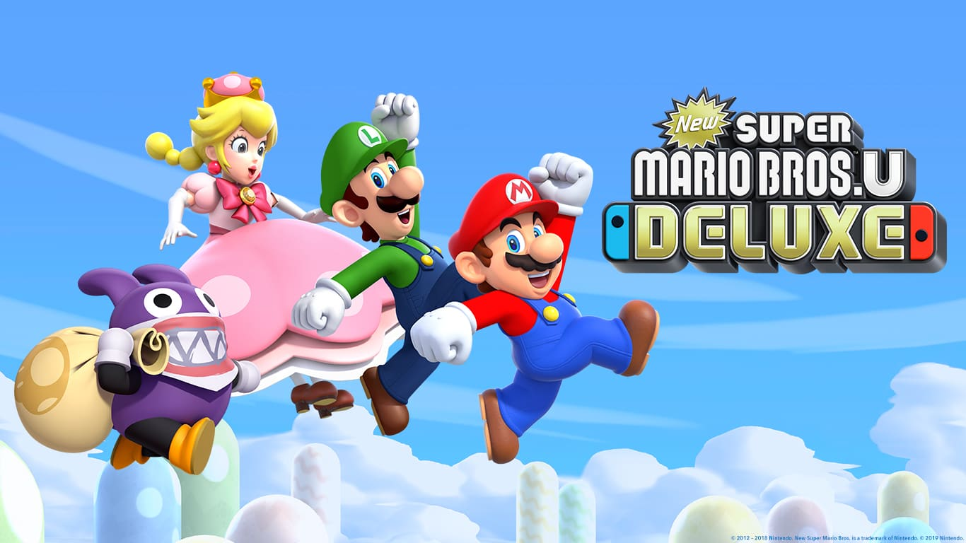 New Super Mario Bros U Deluxe for the Nintendo Switch home 1366x768
