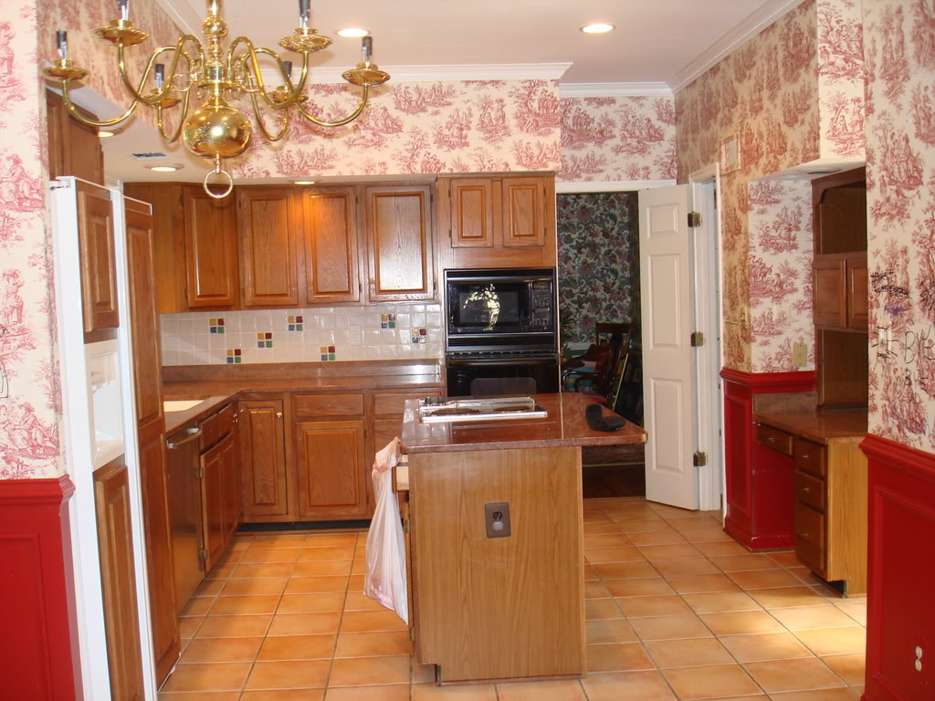 Country Style With Wallpaper Spectacular Kitchen In Country Style With 1024x768