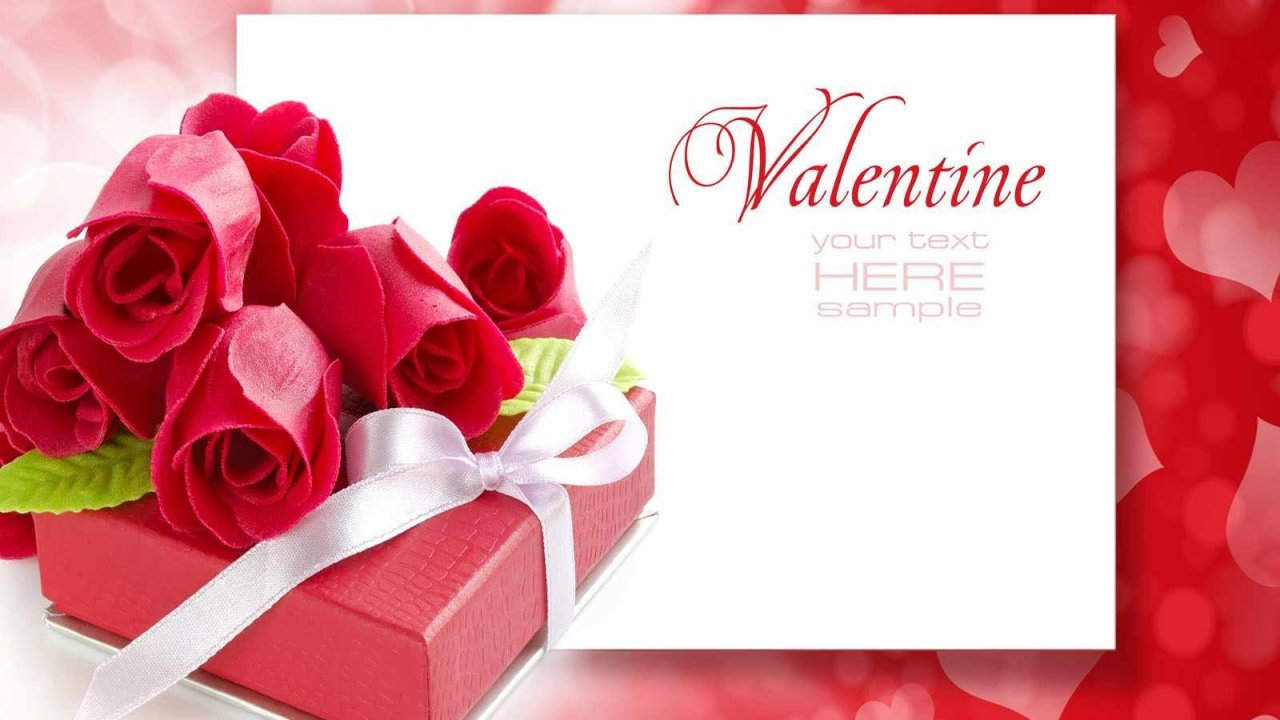 Happy Valentine Day Greeting Card 2015 Wallpaper Cool Images 1280x720