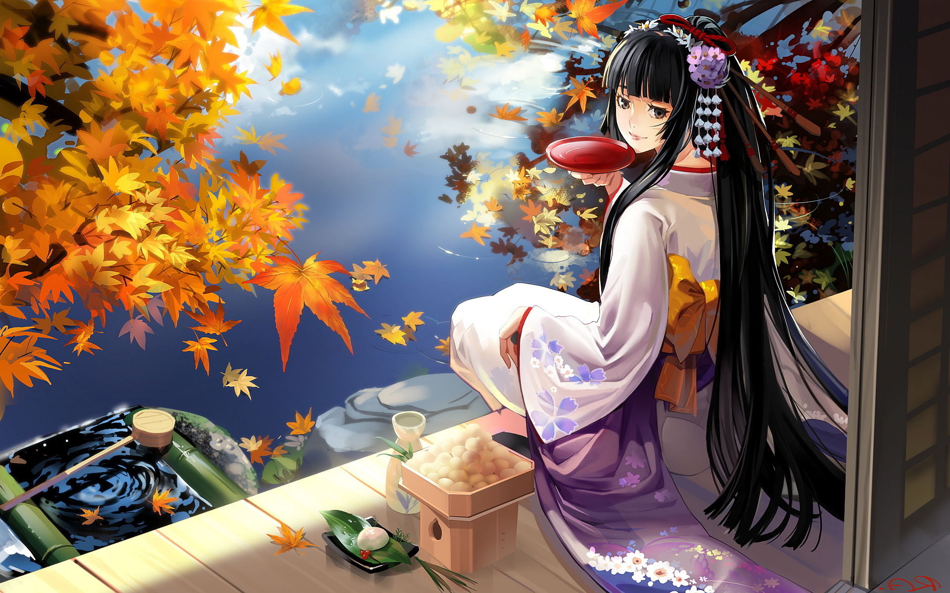 Geisha Anime Wallpaper HD Wallpaper Girls 2144 1920x1200
