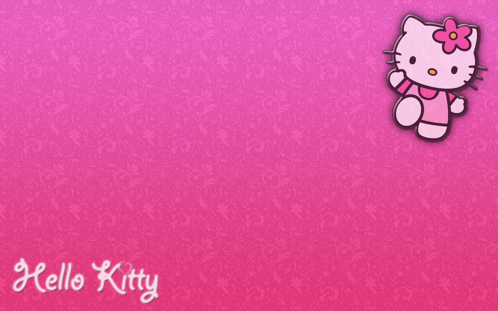 Hello Kitty Cute Backgrounds Wallpaper Wide For Desktop 1680x1050