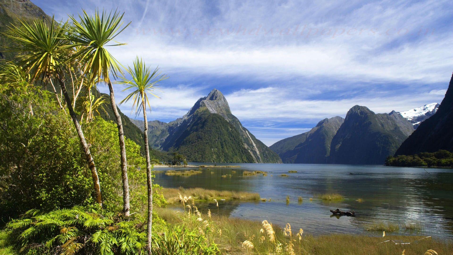nature sound milford wallpapers hd mountain mountains magnificent zealand wallpapersafari tutorialchip