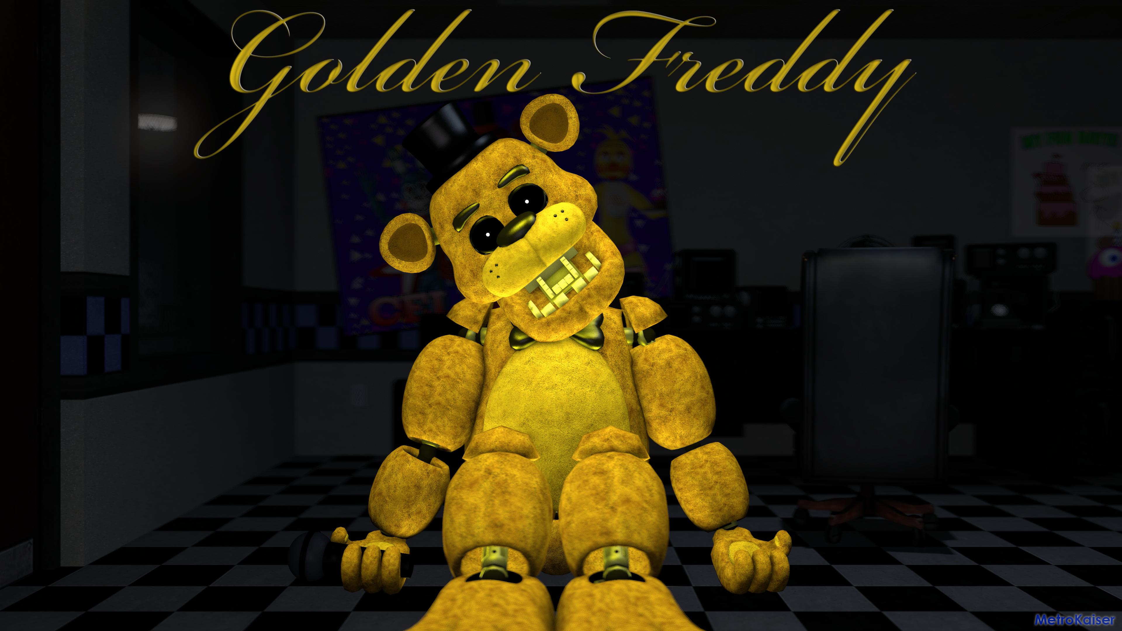 [SFM FNAF] Golden Freddy wallpaper 4K by wstmetro on 3840x2160