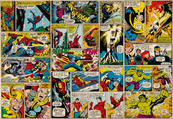 WALL WALLPAPER FROM NEW KOMAR 2012 COLLECTION COMICS WALL MARVEL 588x407