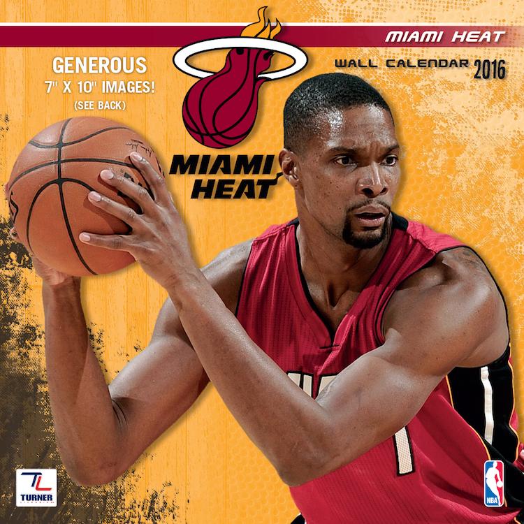 Miami Heat 2016 Mini Wall Calendar   Buy at KHC Sports 750x750