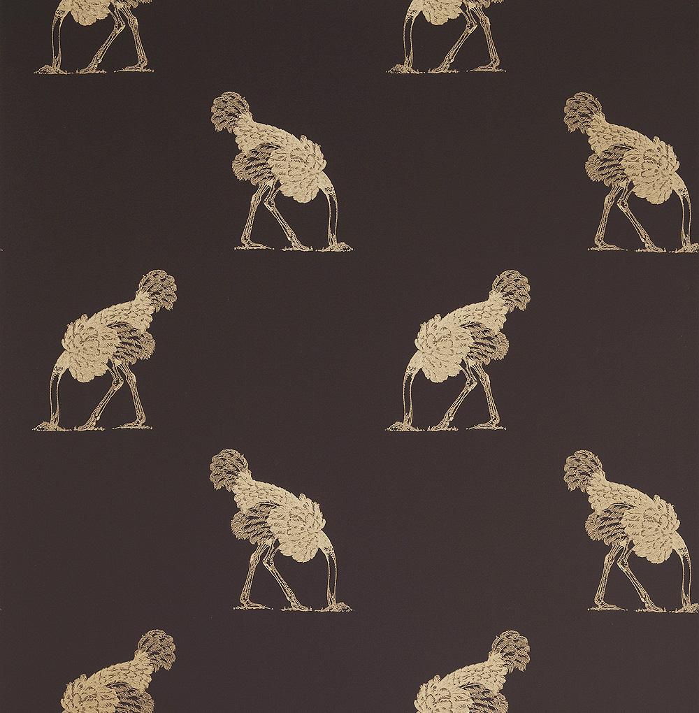 ostrich Beware the Moon Skulls Wallpaper Made in England 1000x1020