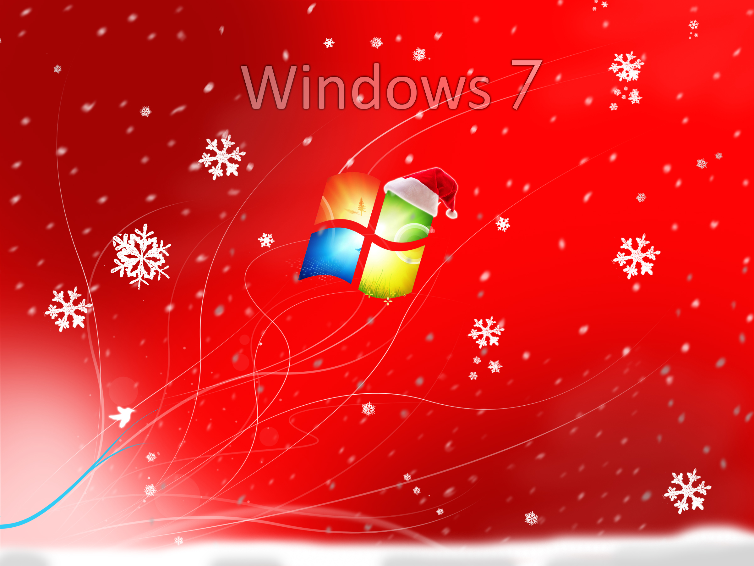 Windows Christmas Wallpaper 2400x1800