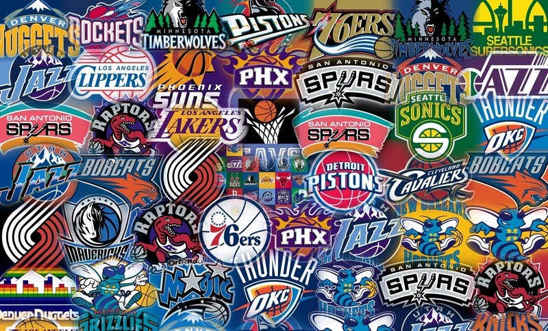 NBA Teams Logos Auto Collage   Everything about Basketball The NBA 800x484