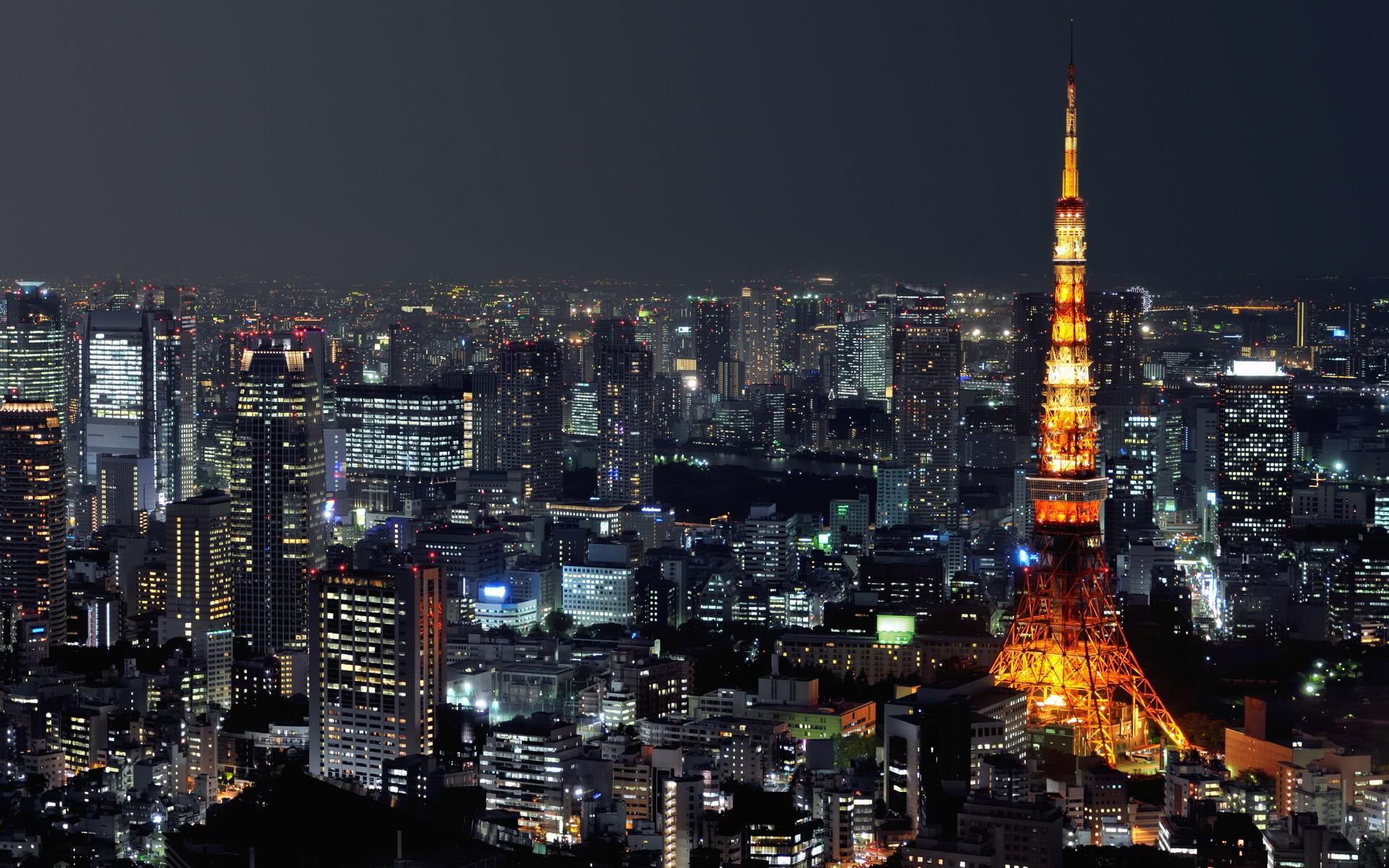 Japan Tokyo Wallpaper 1920x1200 Japan Tokyo Cityscapes Night 1920x1200
