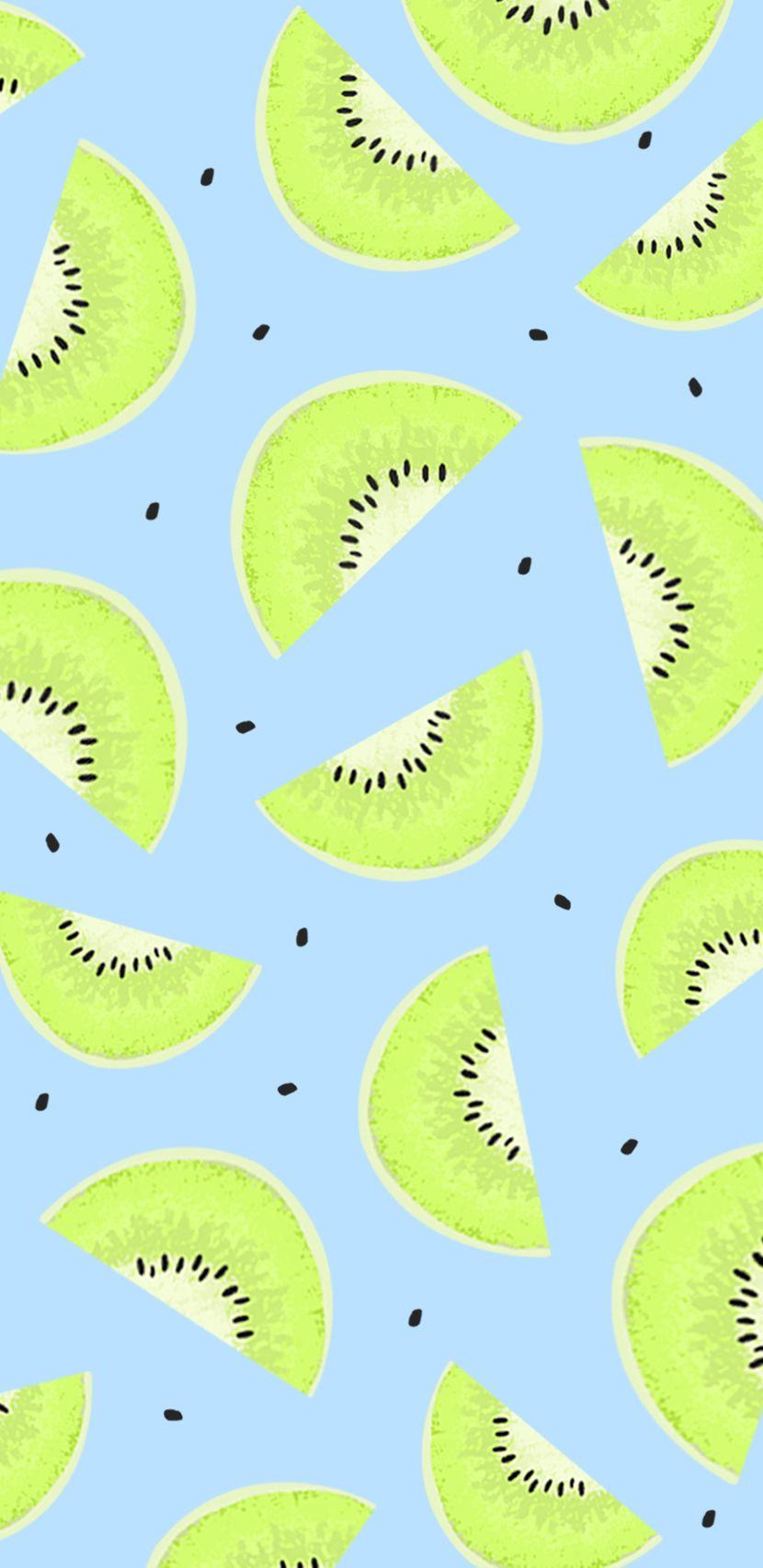 kiwi fruit summer pastel colors wallpaper screensaver iphone 830x1706
